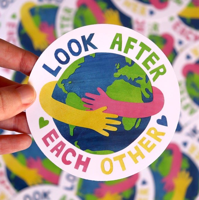 Look After Each Other - Vinyl Sticker