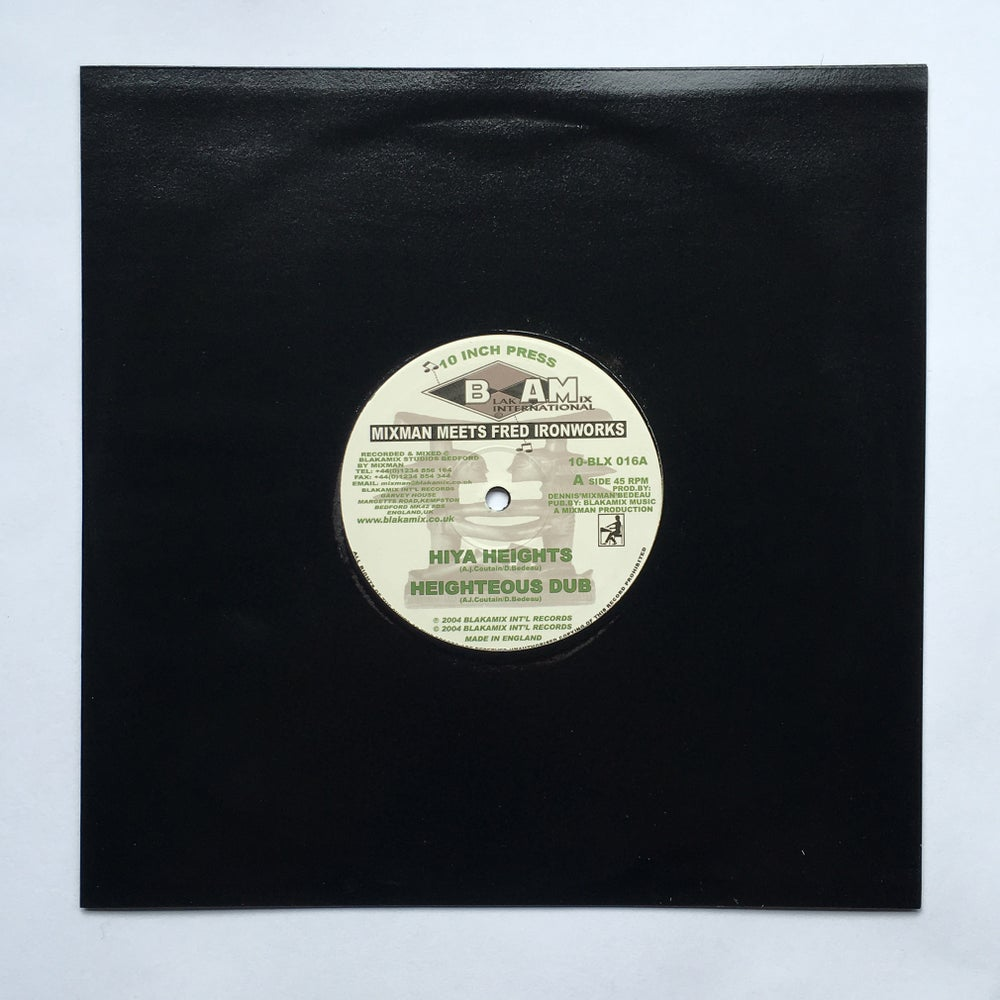 """Image of MIXMAN & FRED IRONWORKS - HIYA HEIGHTS / FROM A I'SHANT TIME 10"""""""