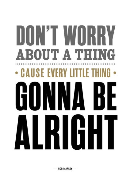 Image of Bob Marley - Don't Worry About A Thing Poster