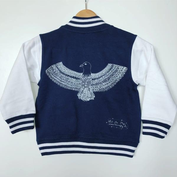 Image of Kid's Varsity Jacket Navy/White *Phoenix*