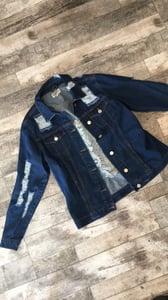 Image of Shredded jean jacket