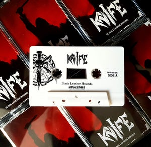 Image of KNIFE - Black Leather Hounds - (2nd limited edition/white tape)