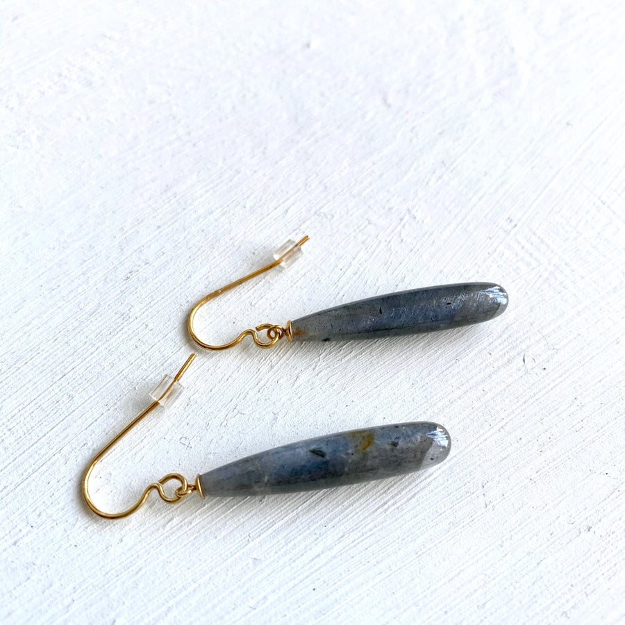 Image of Indian summer hook earrings - Labradorite
