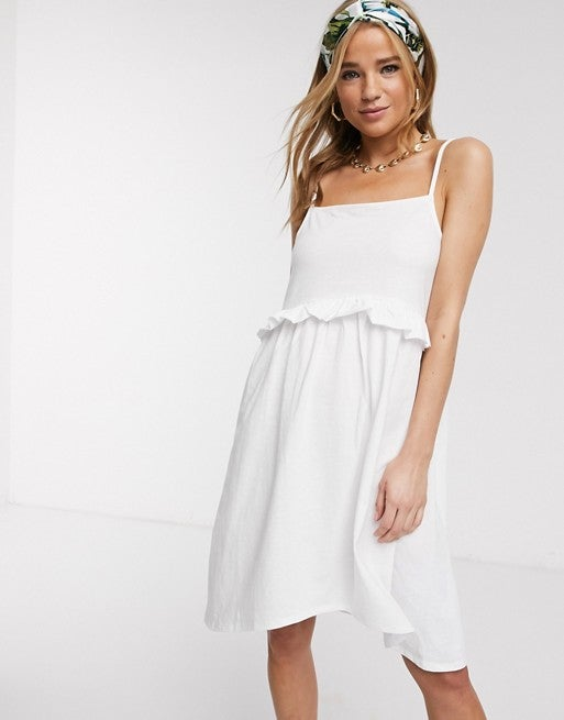 Image of Frilly Drop Seam Sundress