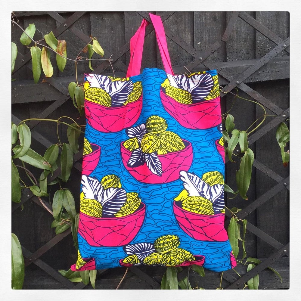Image of Ankara Fruit Bowl Bag