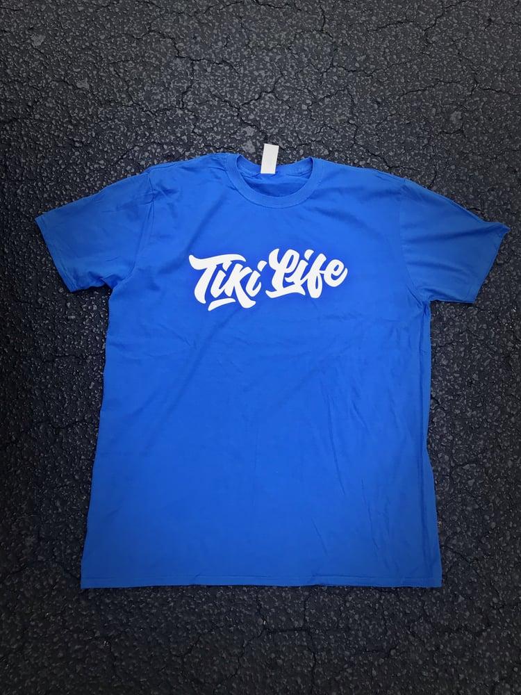 Image of TikiLife T-Shirt - Royal/White