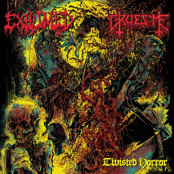 "Image of EXHUMED / GRUESOME ""Twisted Horror"" split CD"