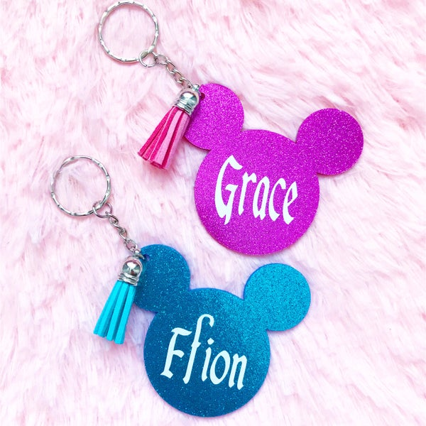 Image of Personalised Mouse Keyring