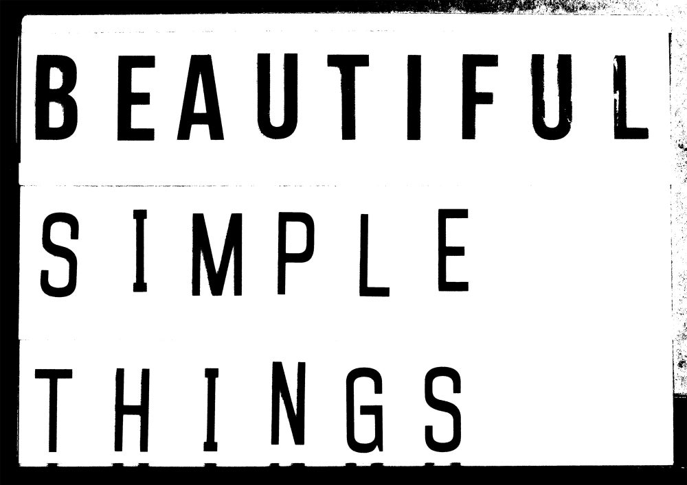 Beautiful Simple Things Lightbox Quote