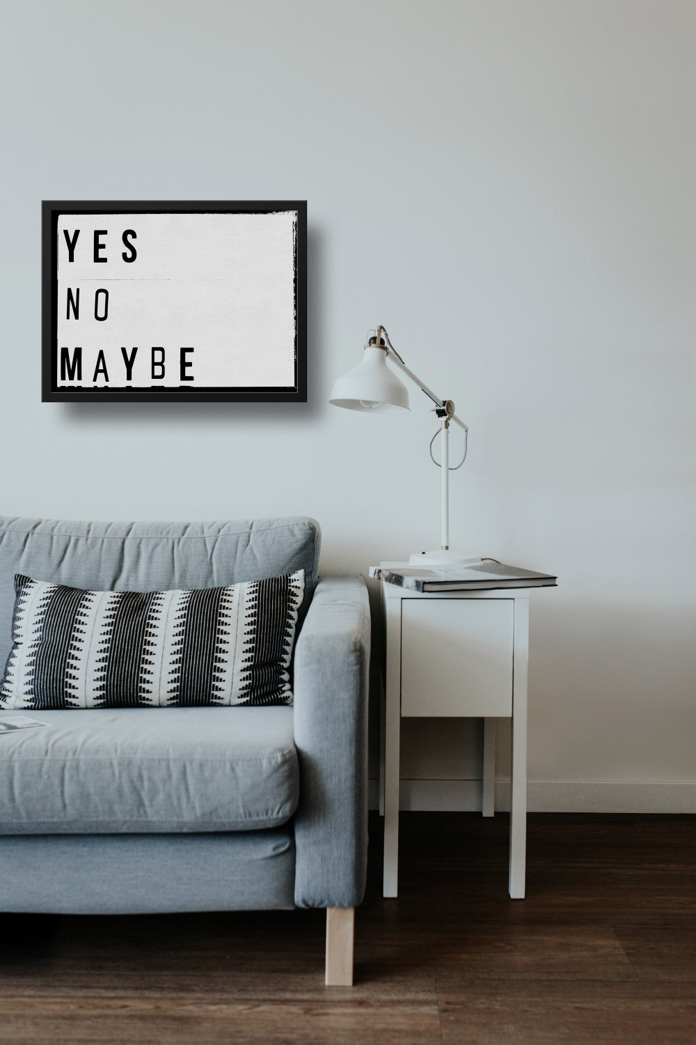 Yes No Maybe Lightbox Quote