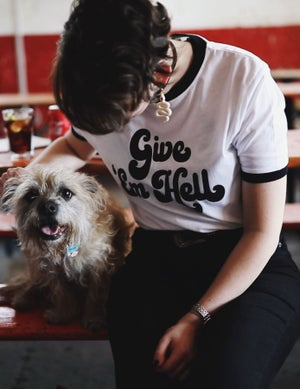 Image of Give 'Em Hell Ringer Tee