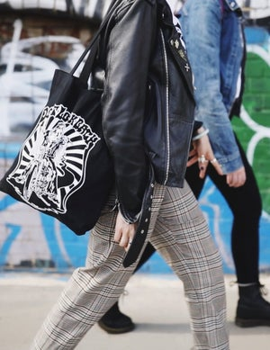 Image of Don't Look Back Canvas Tote Bag