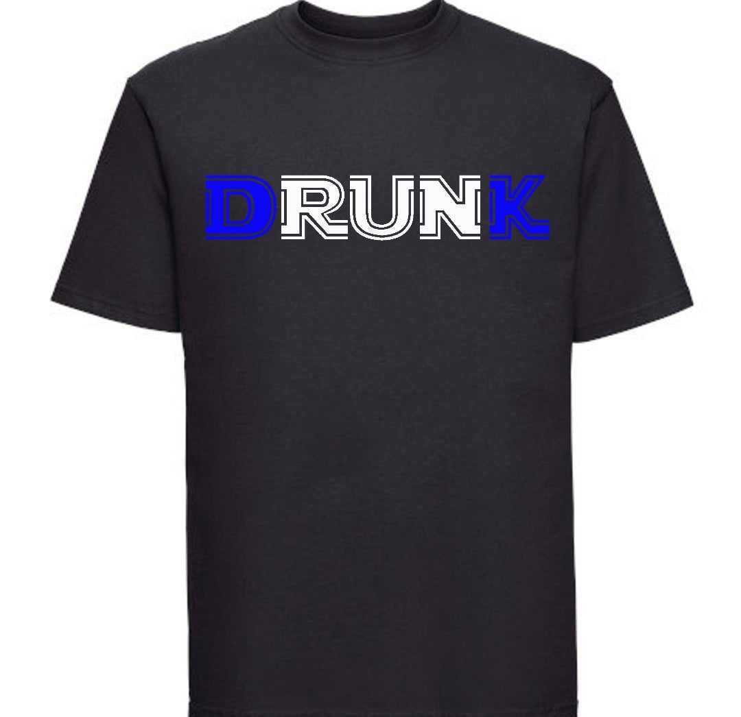 Image of Drunk T-Shirt  D&K Royal Blue in color