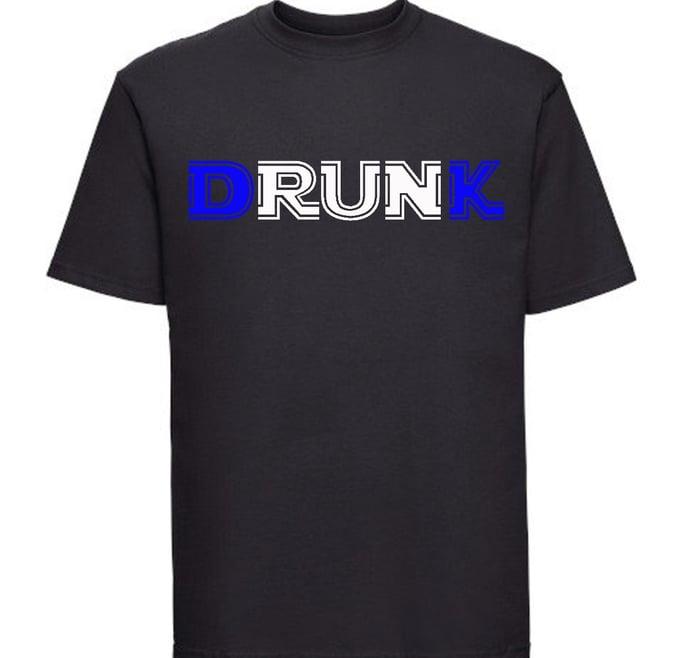Image of Drunk T-Shirt  D&K Royal Blue in color