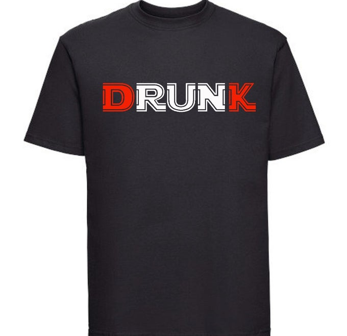 Image of Drunk T-Shirt #2  D&K Red