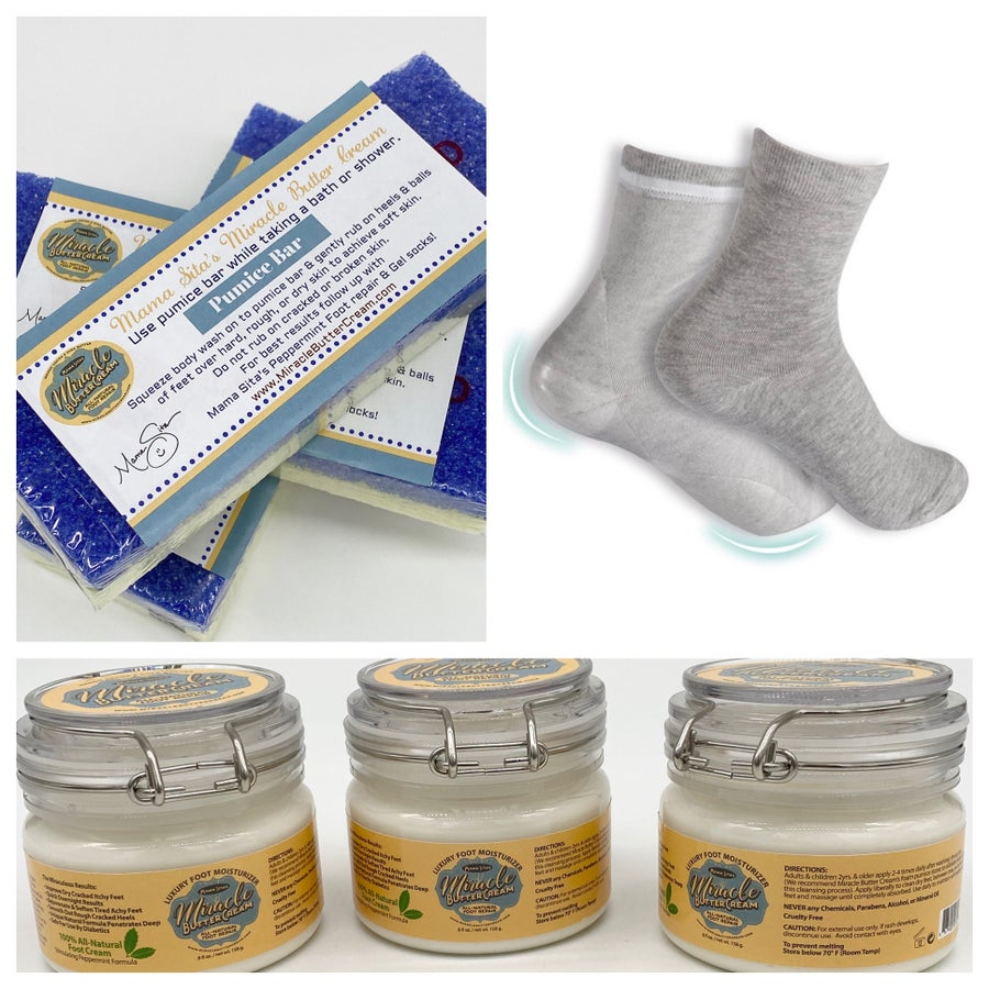 Image of Foot Repair KIT (Cream + Gel Socks + Pumice Bar