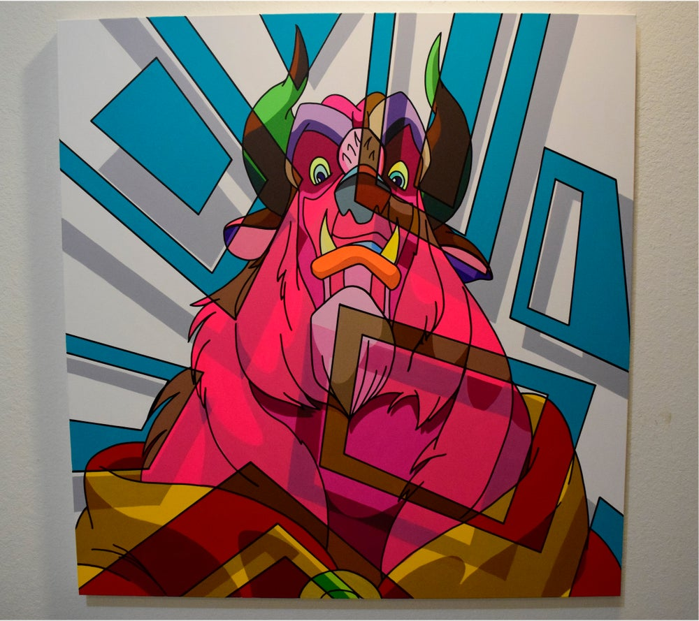 "Image of BEASTMODE - 48"" x 48"" inches Original Paintings"
