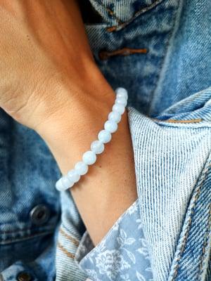 Image of Bracelet aigue marine - taille S -