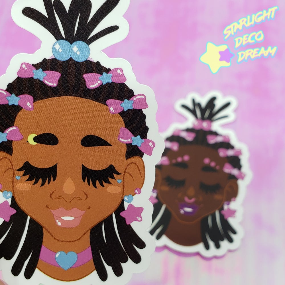 "Image of Set of TWO ""Dreaming Girls"" Large VINYL Stickers"