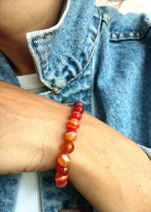 Image of Bracelet agathe red botswana - taille S-