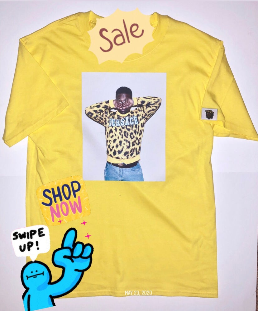 Image of GIGPS YELLOW VERSACE T-SHIRT
