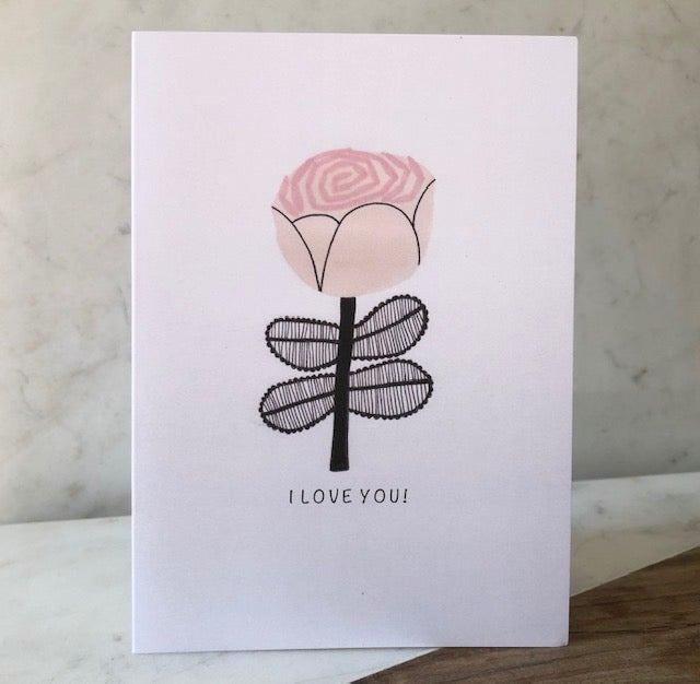 Image of I Love You!  Greetings Card