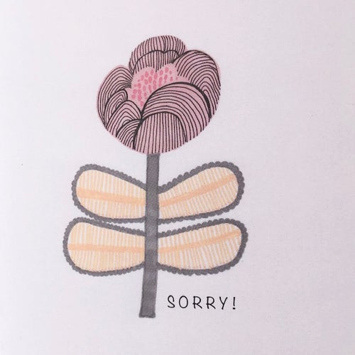 Image of Sorry!  Greetings Card