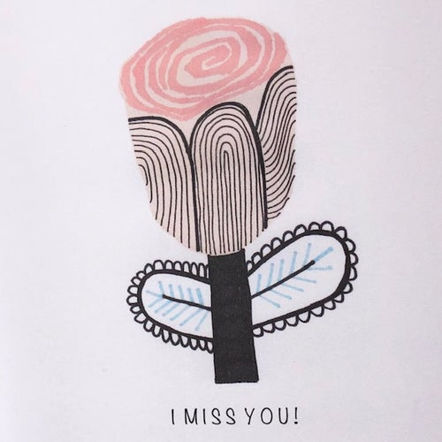 Image of I Miss You!  Greetings Card