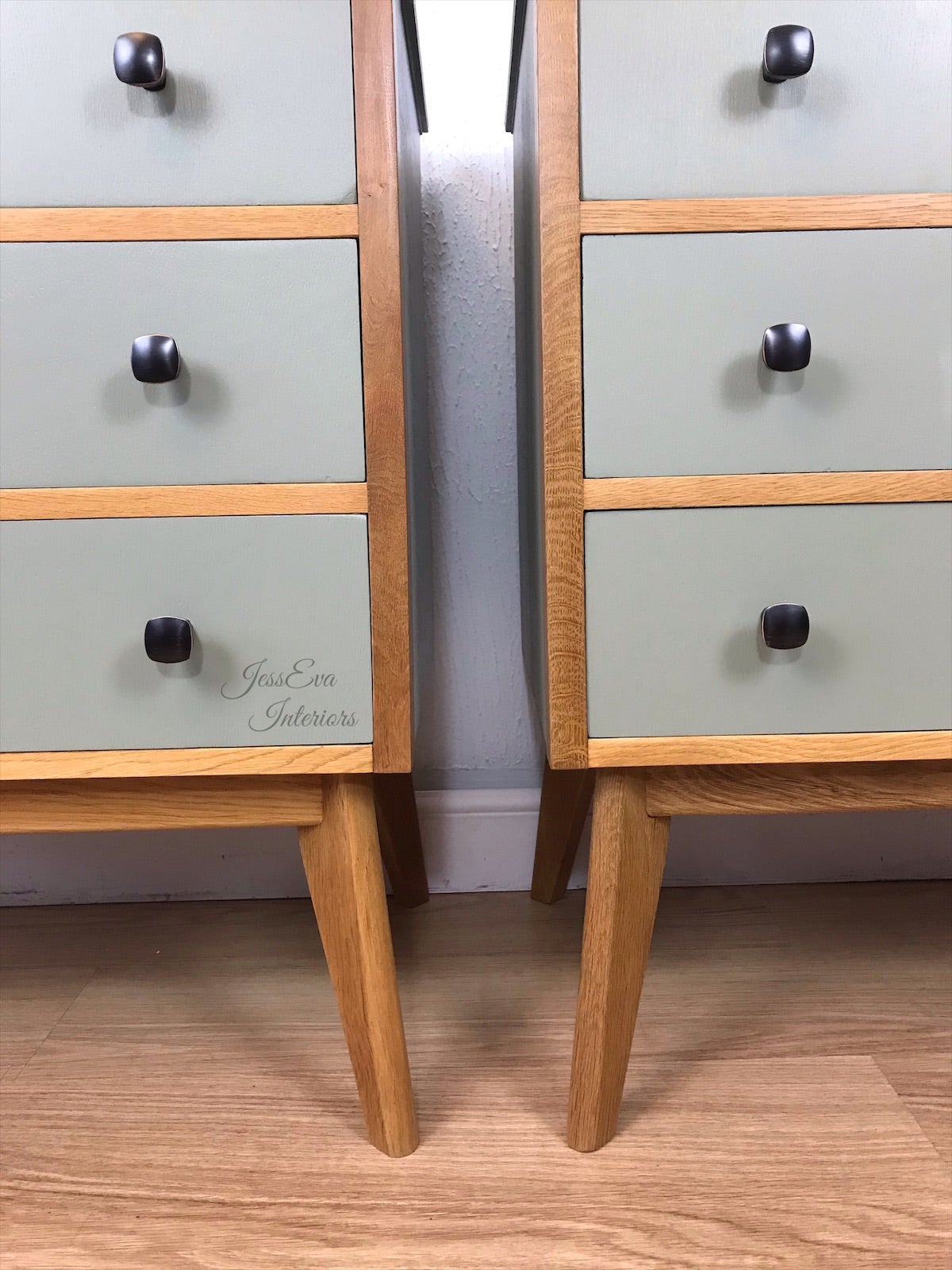 Mid Century Modern Vintage Retro Pair Of Morris Of Glasgow Bedside Tables Chest Of Drawers Jesseva Interiors