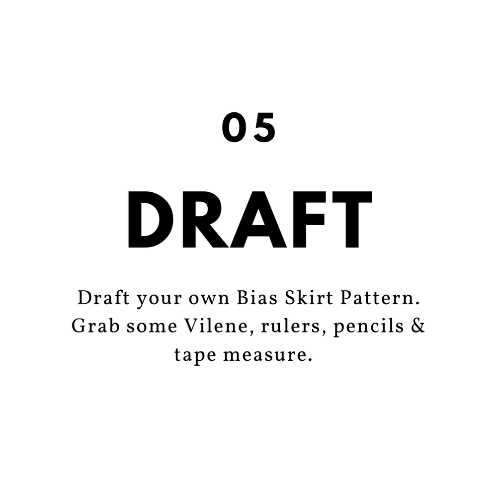 Image of The Motley Collection - Draft Your Own Bias Skirt Pattern