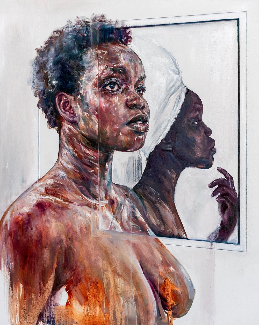 Image of Atong with her self portrait
