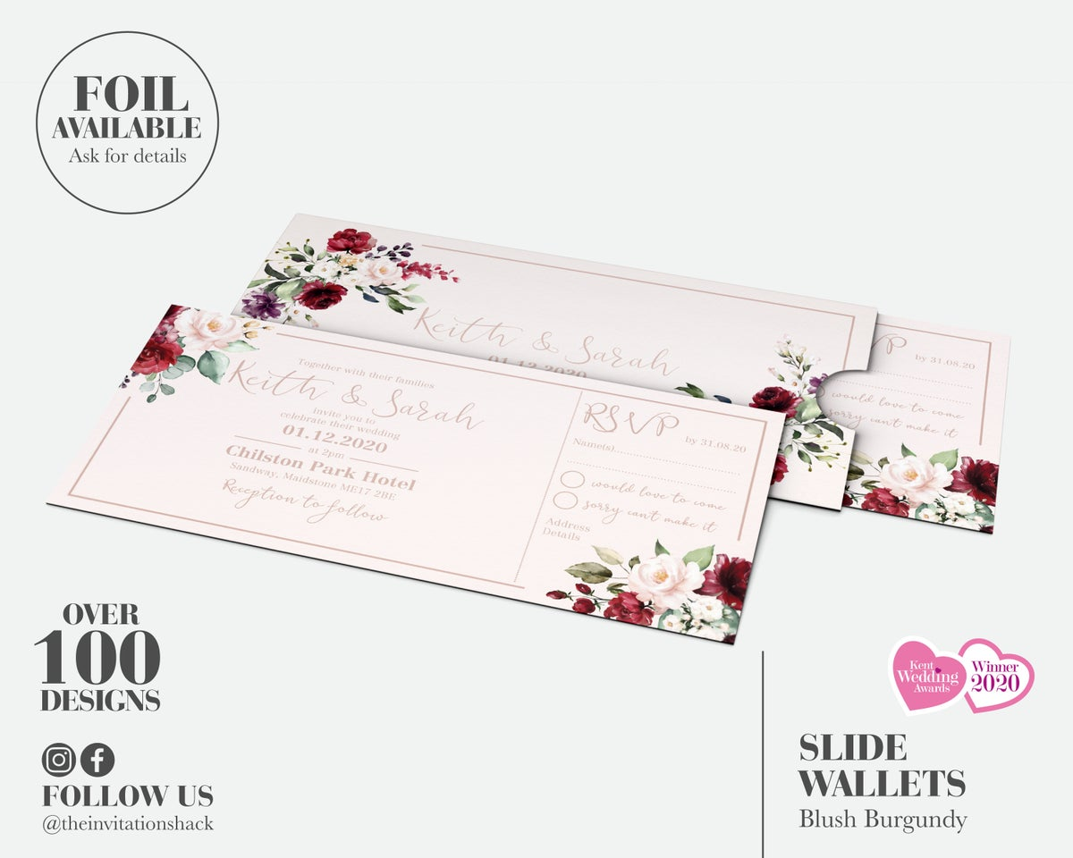 Blush Burgundy Slide Wallet