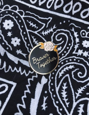 Image of Slogan Rose Enamel Pin