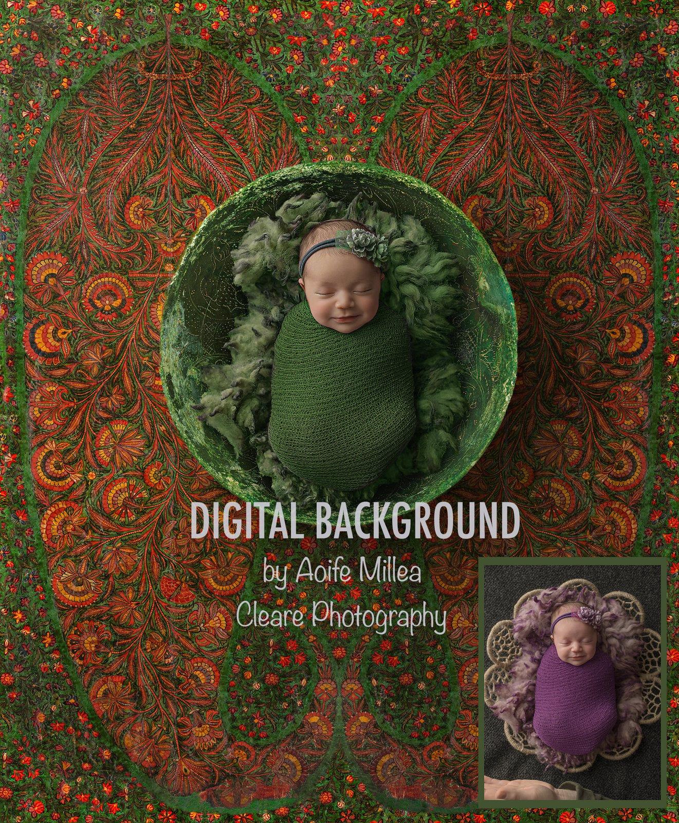 geo bowl newborn digital background