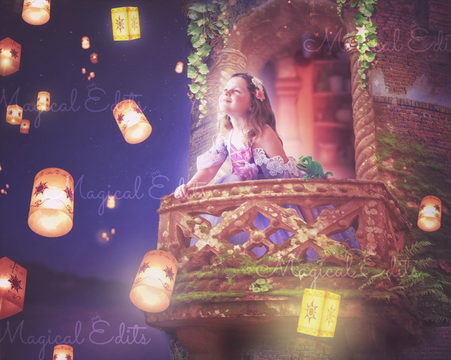 Image of See the Lights- Tangled Balcony Edit