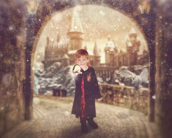 Image of Hogwarts Christmas Edit