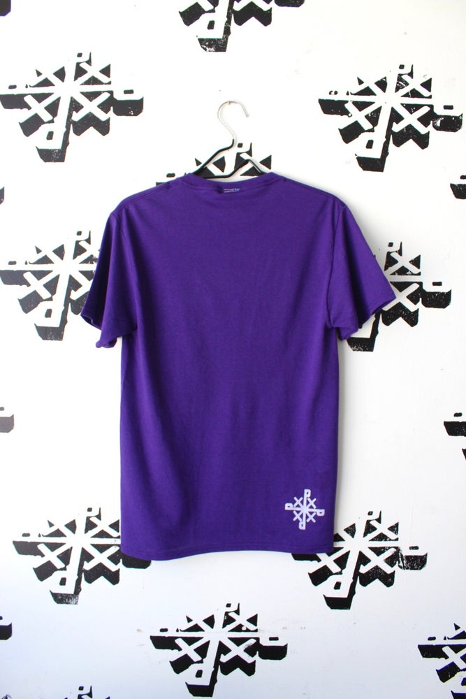 Image of stackeddd tee in purple