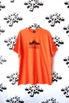 set fire to the liars tee in orange