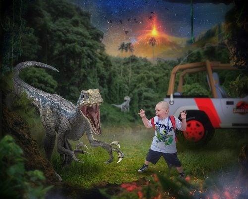 Image of Blue Dinosaur Edit