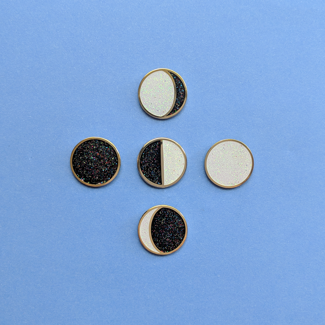 Image of Moon Phases Mini Pins - Full Set