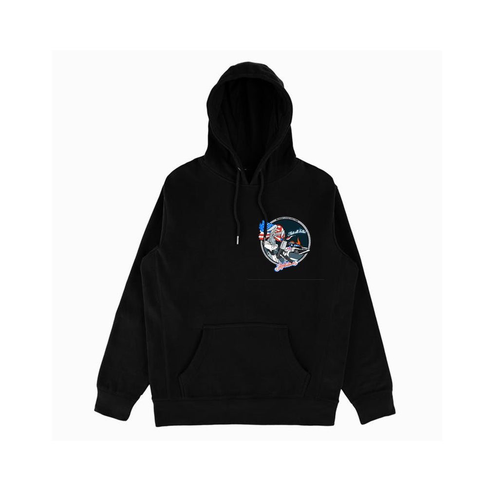 "Image of ""Thats all folks"" BLK hoodie"
