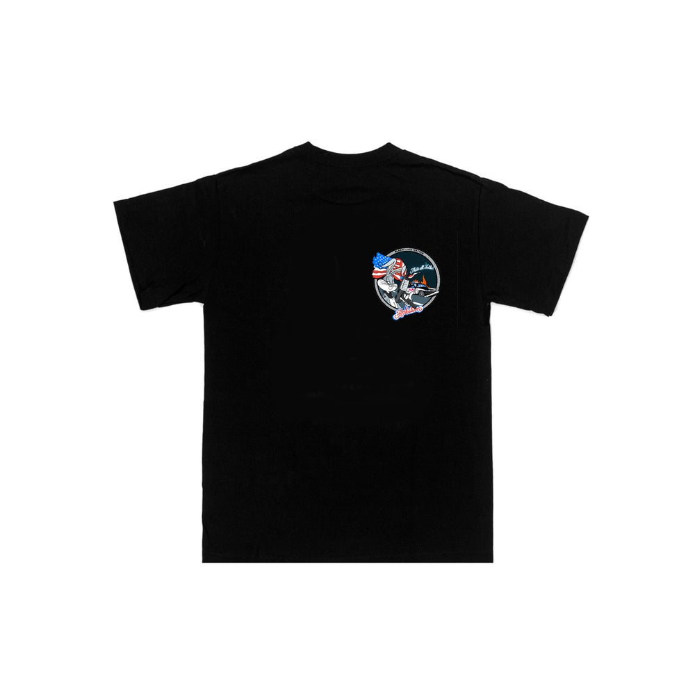 "Image of ""Thats all folks"" BLK tee"