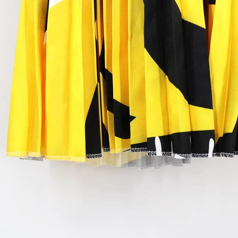 Image of Design Pleated Skirt