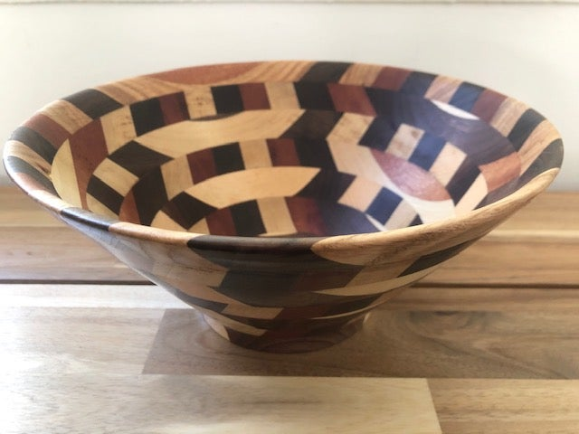 "Image of Bowls By Grant - 10"" Mixed Wood Handmade Bowl"