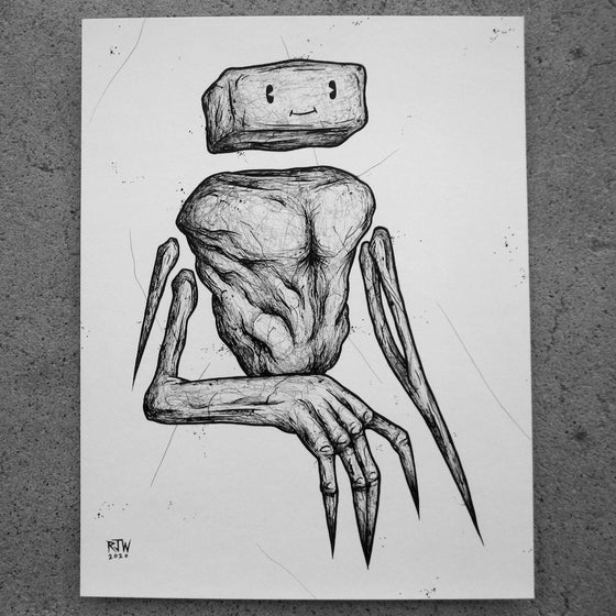 Image of Smiling Ballus - original art
