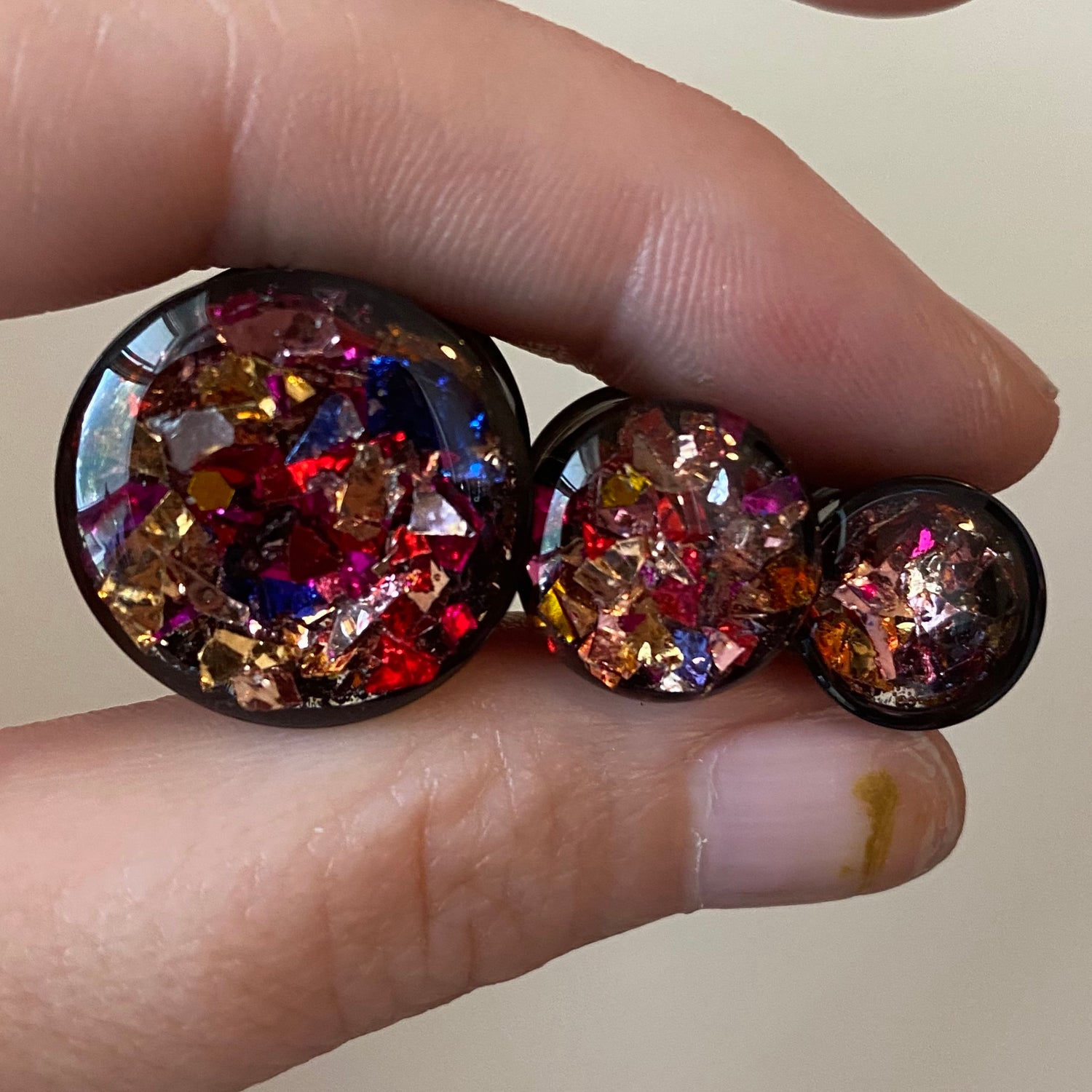 "Image of Confetti Plugs (sizes 00g-2"")"