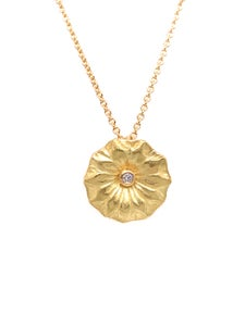 Image of Lotus Leaf Petite Diamond Pendant