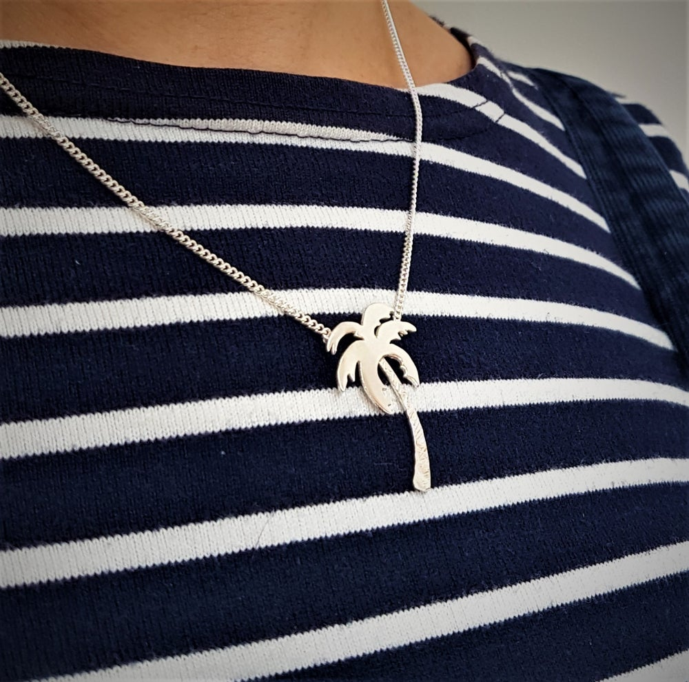 Image of Silver Palm Tree Necklace