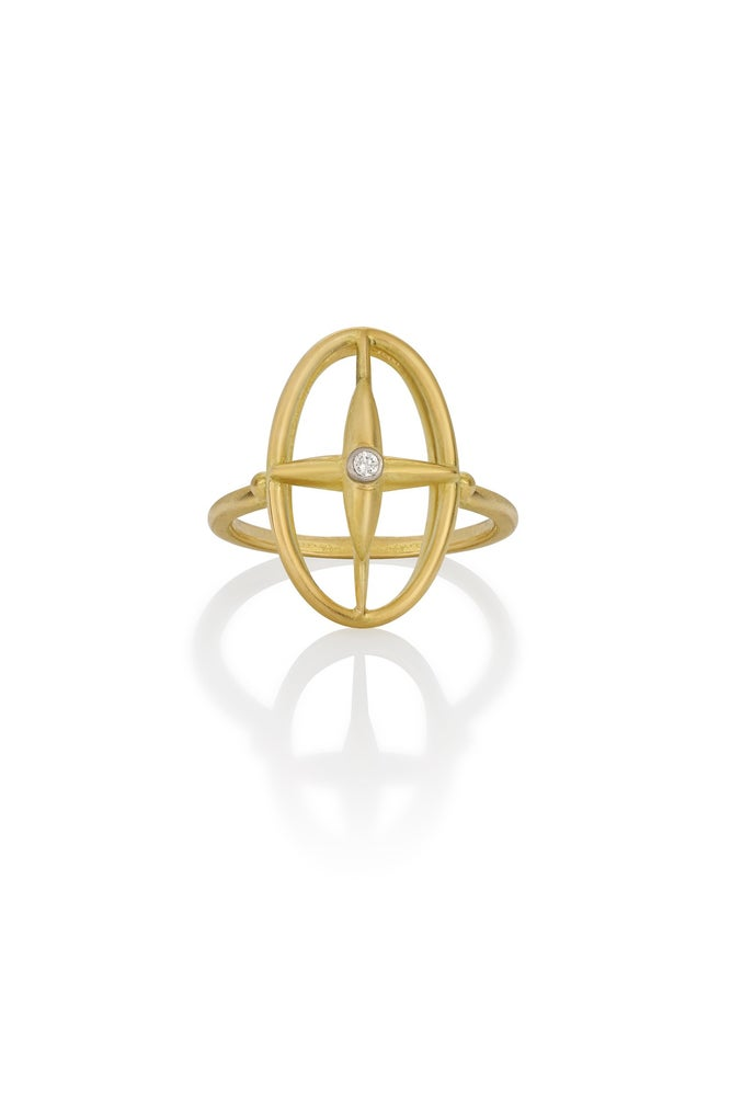 Image of Star Cross Open Diamond Ring