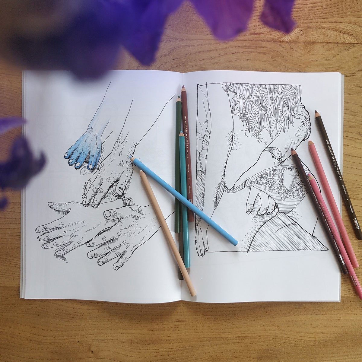 Image of Between The Lines, a Colouring Book by yssa, Volume I
